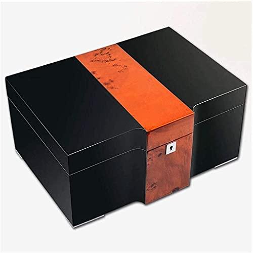 YKHAO - Humidor de escritorio con higrómetro y humidificador de gran capacidad