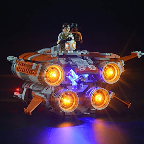Licht-Set Für (Star Wars Jakku Quadjumper Raumschiff) Modell - LED Licht-Set Kompatibel Mit Lego 75178(Modell Nicht Enthalten)