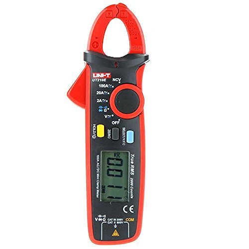 UNI-T UT210E true rms clamp meter AC-DC Clamp Meter (Tester) 100Amps Current, Voltage, Resistance,Frequency, Capacitance, Temperatur with Calibration Certificate and Service Support In INDIA