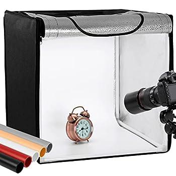 Finnhomy Professional Portable Photo Studio Photo Light Studio Photo Tent Light Box Table Top Photography Shooting Tent Box Lighting Kit 16  x 16  Cube