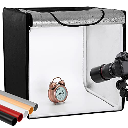 Finnhomy Professional Portable Photo Studio Photo Light Studio Photo Tent Light Box Table Top Photography Shooting Tent Box Lighting Kit, 16  x 16  Cube