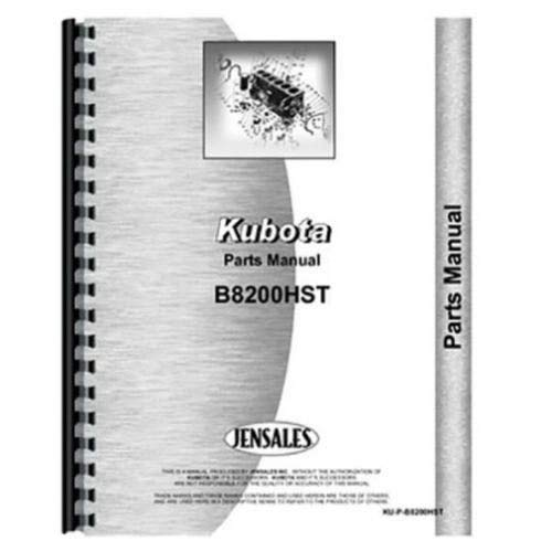 Parts Manual - B8200HST Compatible with Kubota B8200 -  All States, 125109