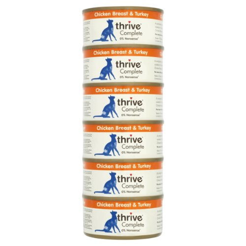 Thrive Cat Food Complete Chicken and Turkey, Pack of 6
