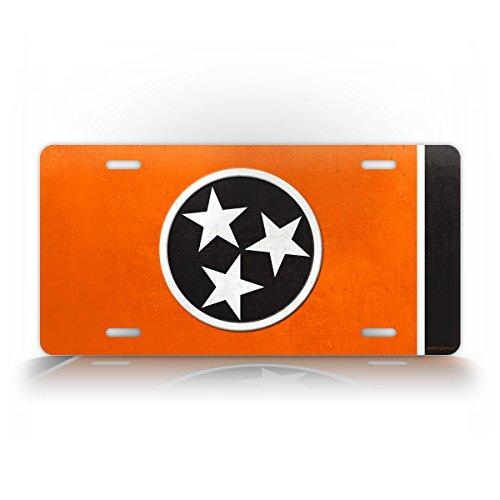 Official Tennessee State Flag VOLS License Plate TN Auto Tag Volunteers Big Orange Football
