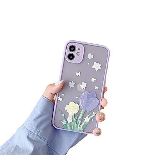 RosyClouds Funda para iPhone 11 11Pro Max X XR XS Max 7 8 Plus con diseño de flores