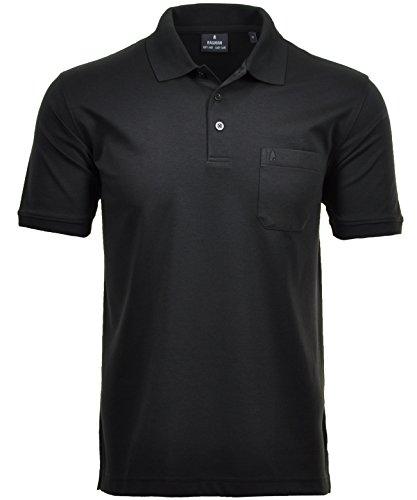RAGMAN Herren RAGMAN Kurzarm Softknit Poloshirt Small, Schwarz-009 S Schwarz