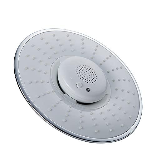 Braceletlxy Musical Runder Duschkopf, Kopfbrausekopf mit eingebautem drahtlosen Bluetooth zum Gespräch, ABS abnehmbare Hochdruckdusche