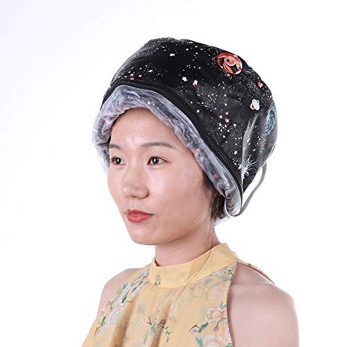 Gorro vaporizador para cabello, máscara eléctrica para cabello sombrero calefactor spa tratamiento...
