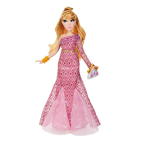 Disney Princess Style Series Aurora Fashion Doll, Contemporary Style Dress with Earrings, Purse, and Shoes, Toy for Girls 6 and Up