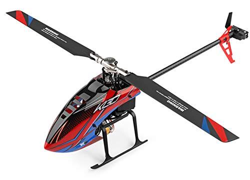 E-Qianw 6-Kanal-RC-Hubschrauber, 2,4 Ghz 3D-Flugzeuge Mit Höhenhold, Greizstabilisator Und Hoher Und Niedriger Geschwindigkeit Für Erwachsene Und Anfänger (Rot)