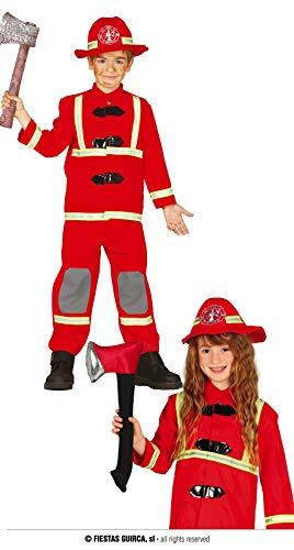 Fiestas Guirca Déguisement Pompier Costume Enfant Unisexe Taille Taille 7 - 9 Ans