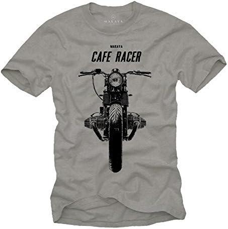 MAKAYA Cafe Racer - Camisetas de Motos Clasicas Hombre