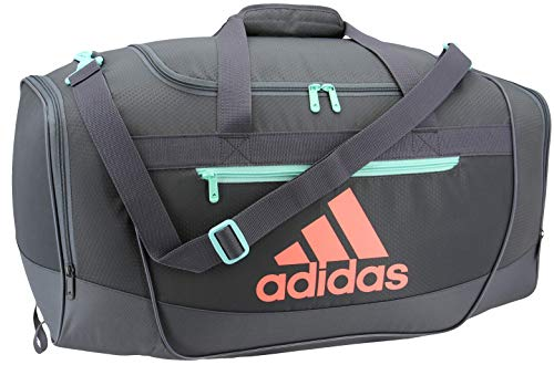 adidas Unisex Defender III Small Duffel Bag, Onix/Easy Green/Chalk Coral, Small