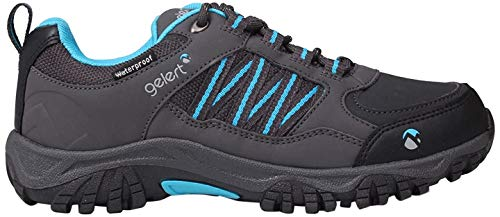 Gelert Horizon Low Kinder Wasserdicht Wanderschuhe Trekkingschuhe Outdoor Schuhe Charcoal/Blue 5 (38)
