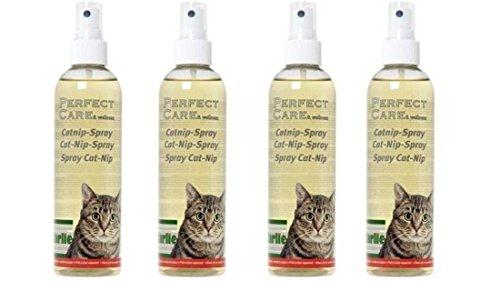 1 Liter (4 Flaschen) Katzenminze Catnip-Spray für Katzen Kratzbaum Katzenbett Katzenspielzeug zur Eingewöhnung oder einfach zum Wohlfühlen Katzenerziehung Erziehungshilfe