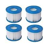 EXSUPRO Type D Pool Filter Replacement Cartridge Hot Tub Filter Swimming Pool Filter Pump,Type D Spa Filter (4 Pack)