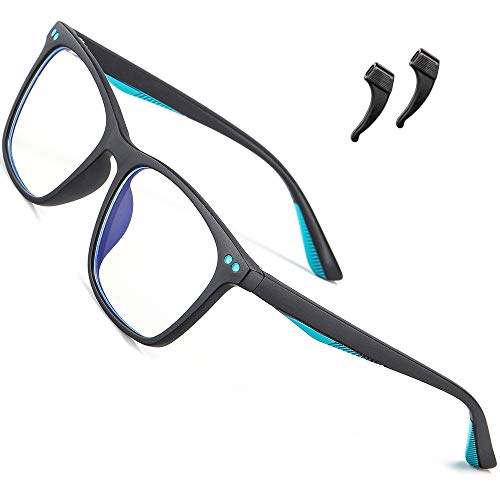 ATTCL blaulichtfilter brille kinder computerbrille zum Alter 3-10 Blockieren von UV-Kopfschmerz Gaming Brille 5103 black