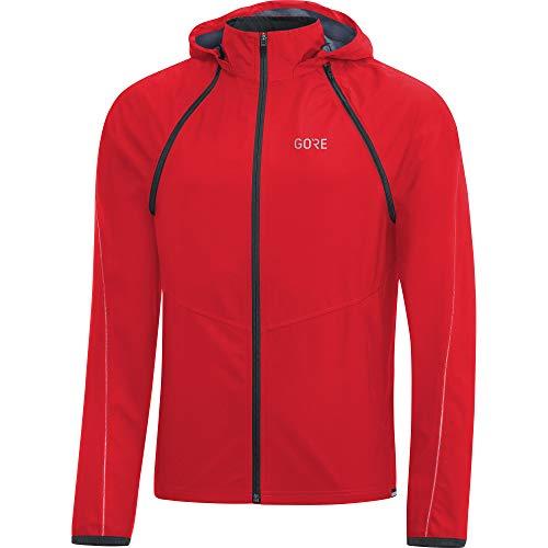 GORE Wear R3 Giacca zip-off con cappuccio da uomo GORE WINDSTOPPER, L, Rosso