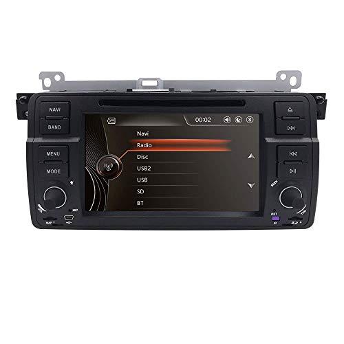 Reproductor multimedia para automóvil de 7 pulgadas en el tablero Unidad central multimedia HD Pantalla táctil Reproductor de DVD para automóvil GPS Sat Nav Estéreo Control del volante Bluetooth SD U