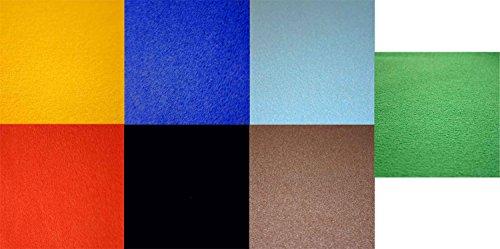 Tophobby 7er Vivelle-Samtpapier Set - 7 Farben - 50 x 35cm
