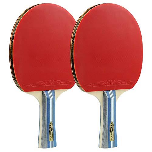 Lerten Bate de Tenis de Mesa,Raquetas de Tenis de Mesa Ligera para Principiantes Raqueta de PráCtica Profesional con Buen Control Y Golpes CóModos / 3 Star/B