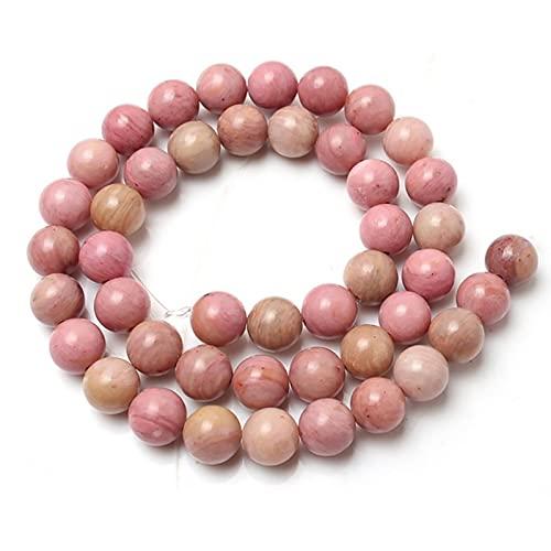 DOOLY Piedra Natural Rosa Cristal Cuarzo Gato Ojo Agates Jades Redonda Perlas Sueltas para Joyería...