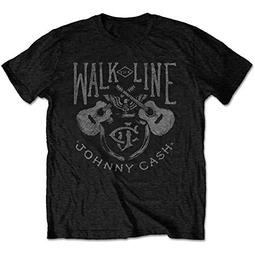 Johnny Cash JCTS13MB01 T-Shirt, Black, Small