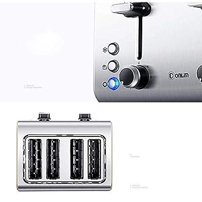 4-Scheisch-Toaster-7-Gang-Profi-Temperaturregelung-extra-breite-Schlitze-und-Rutschen-aus-dem-Kruemel-Tablett-220V