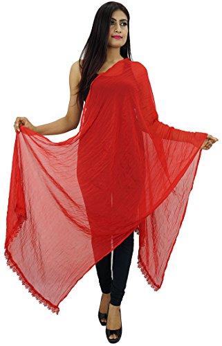 Indianbeautifulart Chiffon Mischung Dupatta lange Stola Frauen-Ansatz-Verpackung Indischer Schal Chunni Strand-Schal