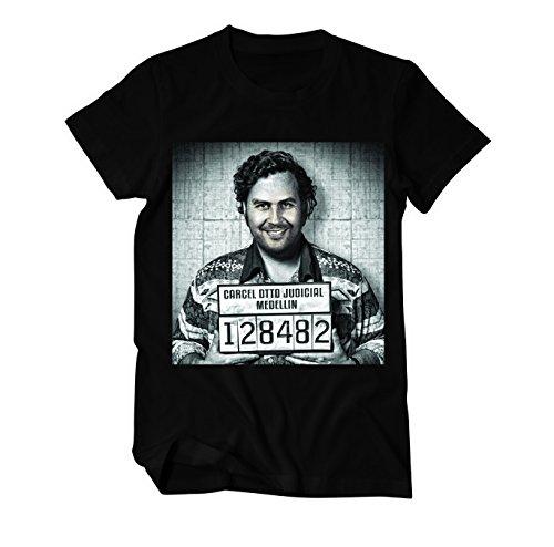 Pablo Escobar Mugshot T-Shirt Herren schwarz L