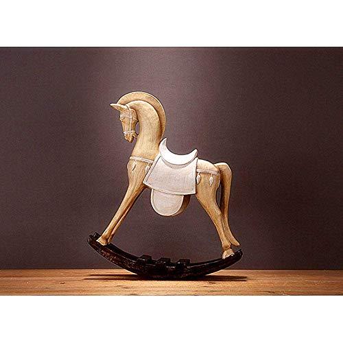 MFWallMirror sculptuur simulatie Trojaans paard beeld dier hars handwerk TV kast zachte woonkamer decoratie verjaardagscadeau