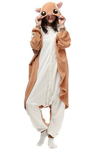 Unisex Animal Pijama Ropa de Dormir Cosplay Kigurumi Onesie Ardilla Voladora Disfraz para Adulto Entre 1,40 y 1,87 m