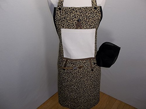 Clean Canvas Animal Print Artist Apron