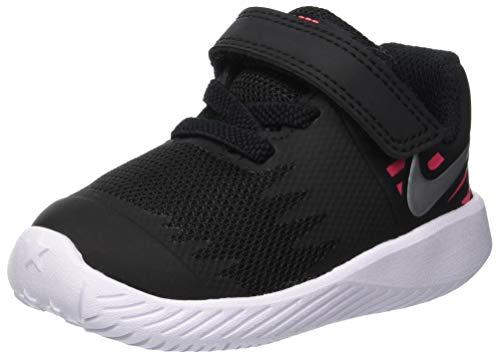Nike Unisex-Kinder Star Runner (TDV) Laufschuhe, Mehrfarbig (Black/Metallic Silver-Racer Pink-Volt 004), 25 EU