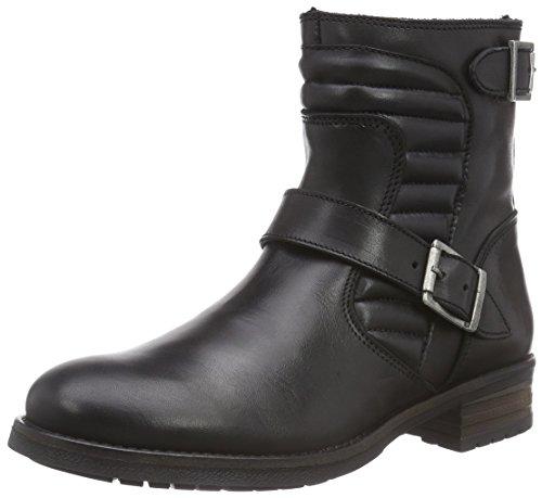 Buffalo London Damen ES 30575 Leather Biker Boots, Schwarz (Preto 01), 40 EU