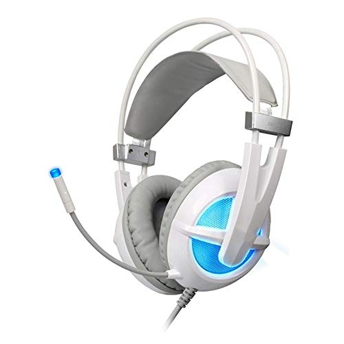 Casque Gaming Pro Virtual Surround 7.1 USB Light Rétrodiffusion Technologie Micro Casque Gaming (Color : White, Size : M)