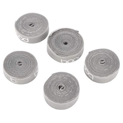Haak en Loop-DIY Cut Nylon Hook and Loop is geschikt voor thuis en op kantoor voor het organiseren van kabels, voedingskabels, hoofdtelefoonsnoeren, datakabels (zwart, grijs) Aantal: 1 stuks.