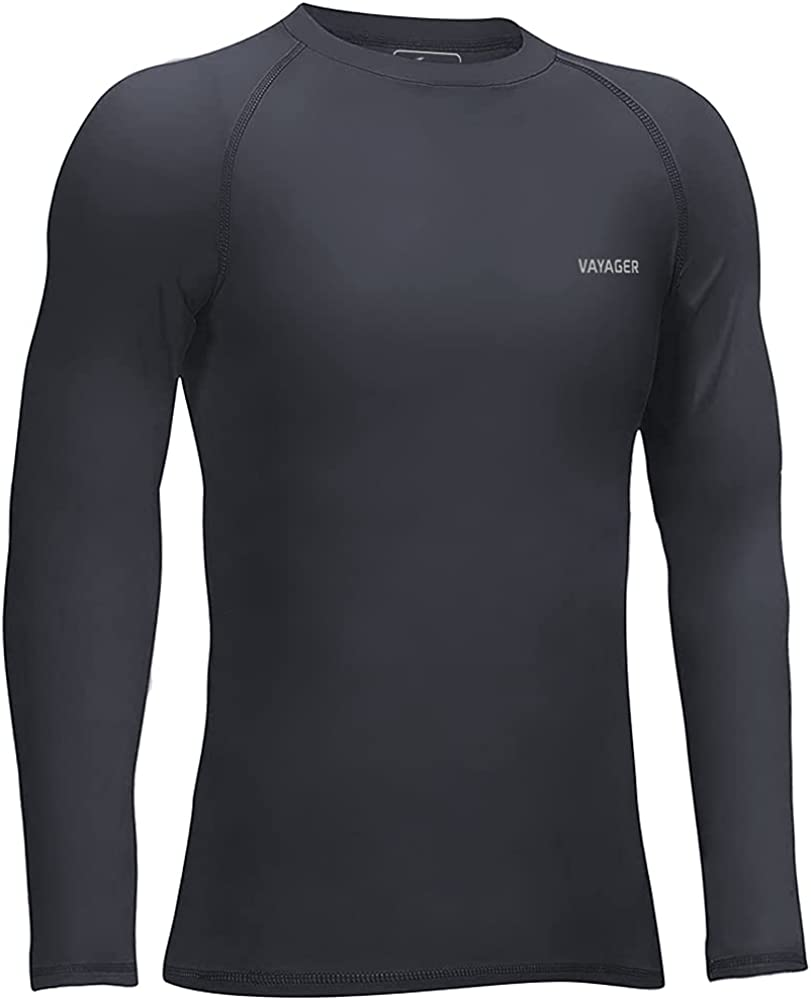 VAYAGER Boys' Girls' Youth Compression Shirts Thermal Underwear Long Sleeve Undershirts Performance Baselayer