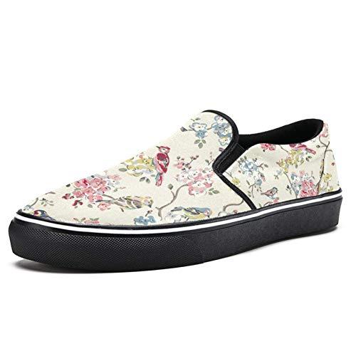 Zapatillas de deporte para mujer Acuarela Aves en Florales Ramas Moda Zapatillas de deporte Malla Transpirable Caminar Senderismo Tenis Zapatos, color Multicolor, talla 39 EU