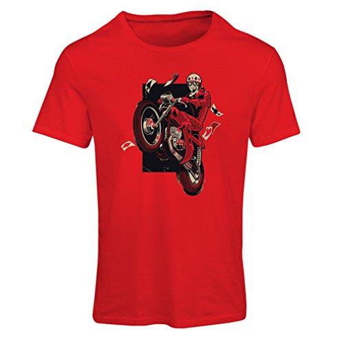 Vrouwen T-shirt motorkleding - motorrijder T-shirt, motorfiets accessoires - vintage/retro design (Biker T-shirt)