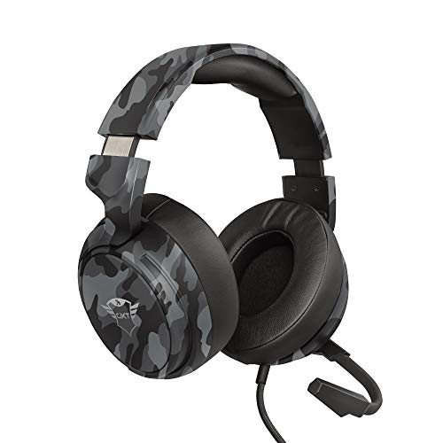 Trust Cuffie Gaming GXT 433K Pylo con Microfono a Scomparsa, Driver da 50 mm, 3.5 mm Jack, Filo, Over Ear, per PS4, PS5, Xbox Series X, PC, Xbox One, Switch, Nero Mimetico