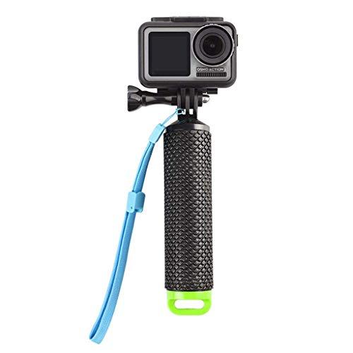 Galleggiante,Impugnatura Bastone Galleggiante Action Cam Handle Mount Grip per Hero 5 3 4 Session 3 Panasonic Lumix Nikon con Regolabile Cinturino Vite 78cm Nero
