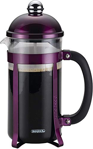 BonJour Coffee 8Cup Maximus French Press Coffee Maker Purple