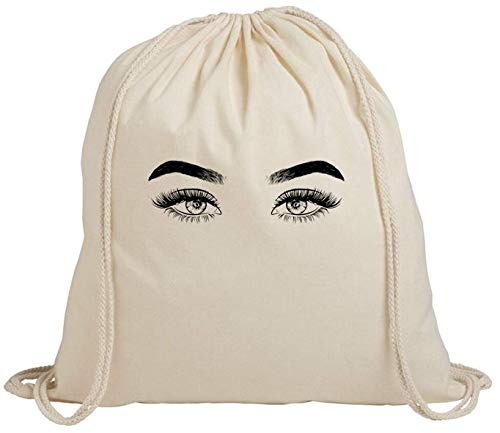 Sexy Eyes Face Cute Women Men - Mochila de algodón con cordón