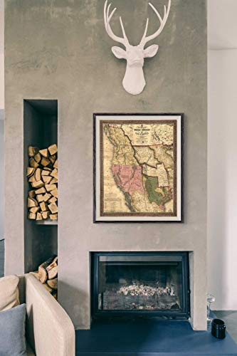 Map Canvas Wall Art Texas Map 1846 Antique Map Oregan Map Large Map Vintage Maps Antique Map Old Map Wall Map Map Decor Maps