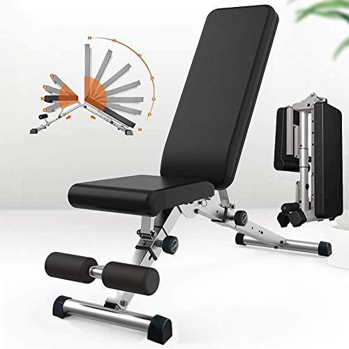 GJXJY Banco MusculacióN Taburete con MusculacióN Multiusos De Abdominales Plegable Entrenamiento/Tablero Supino/Banco Fitness Carga MáXima 300 Kg