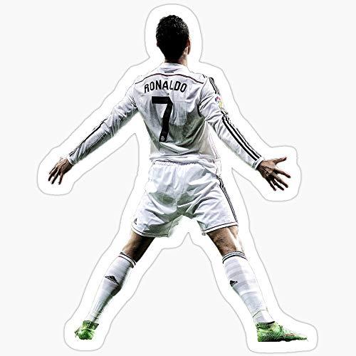 Vinyl Sticker for Cars, Trucks, Water Bottle, Fridge, Laptops Cristiano Ronaldo Stickers (3 Pcs/Pack)