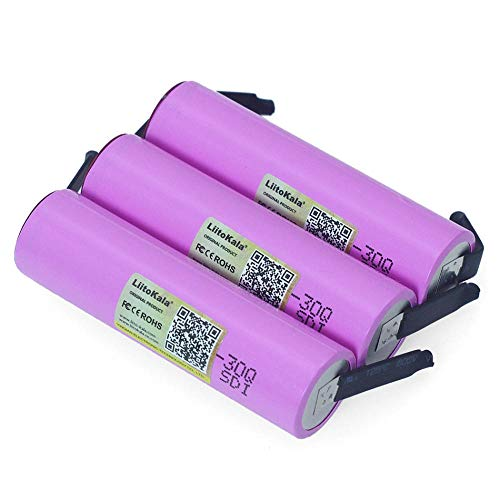 Rechargeable Battery 18650 3.7V Li-Lon 30Q 3000Mah Li-Lon Laptop Batteries Diy Nickel-6Pcs Power Bank Mobile Power Remote Control Aircraft Car Rechargeable Battery