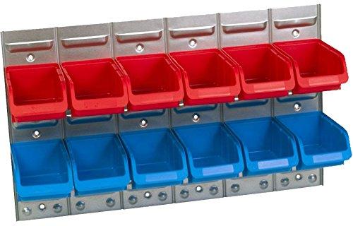 Set 1 x Metall-Schlitzwand, 6 x Größe 2, 6 x Größe 2 blau-rot
