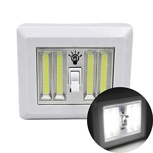 OurLeeme Led-lichtschakelaar, draadloos, magnetisch, 4 x AA-batterij, voor keukenkasten, garage, kast, camp